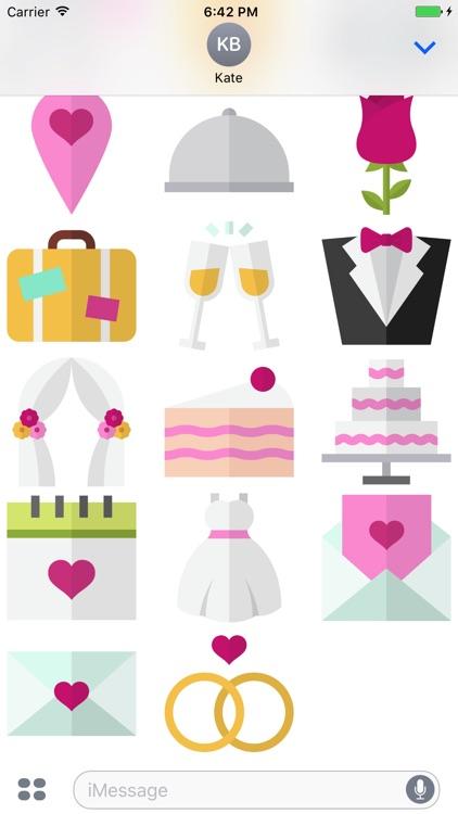WeddingMoji - Wedding Stickers for iMessage