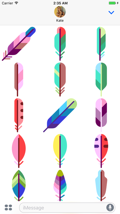 Feather Stickers screenshot two