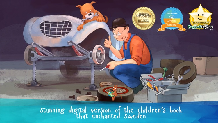 Mulle Meck builds a car — a children's book screenshot-0