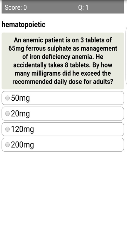 Drug Toxicity Quiz screenshot-3