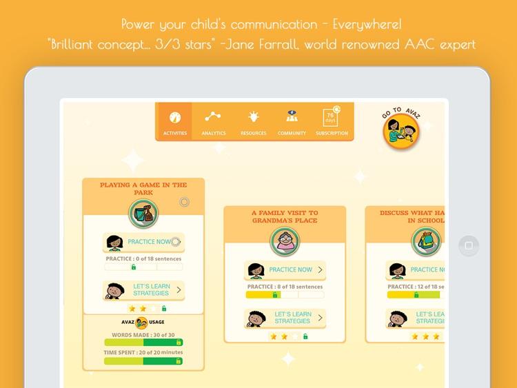 Avaz Lite - AAC App for Autism screenshot-3