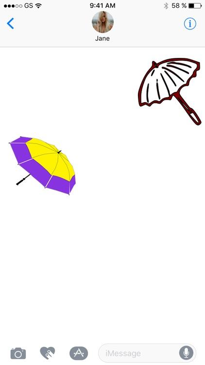 Umbrellas Two Sticker Pack