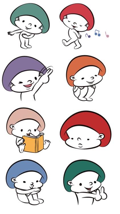 Mushroom Man Stickers