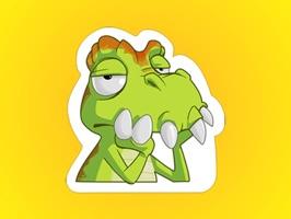 Little Monster Plays Tennis Stickers
