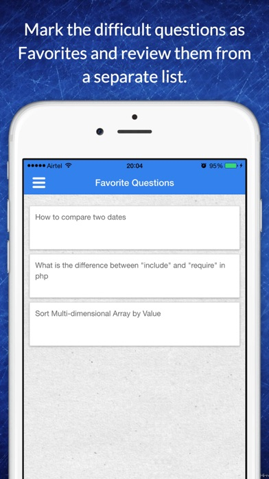Free app for PHP technical job interview questions screenshot four