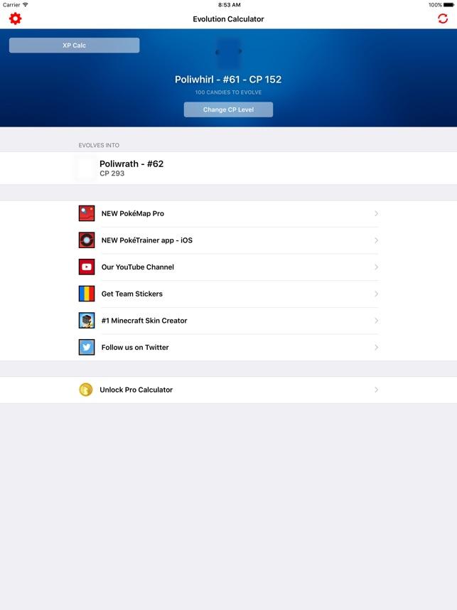 Evolution Calculator Go On The App Store