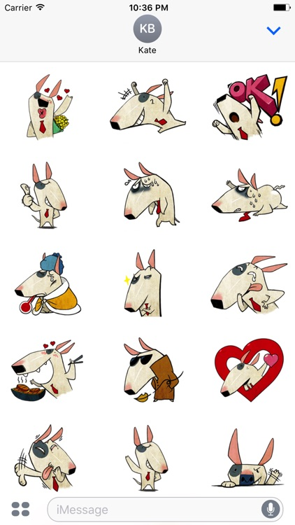 Molly the Terrier - Cute dog stickers for iMessage