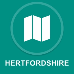 Hertfordshire, UK : Offline GPS Navigation