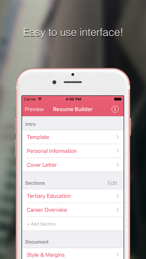 Resume Builder Pro CV Designer on the App Store