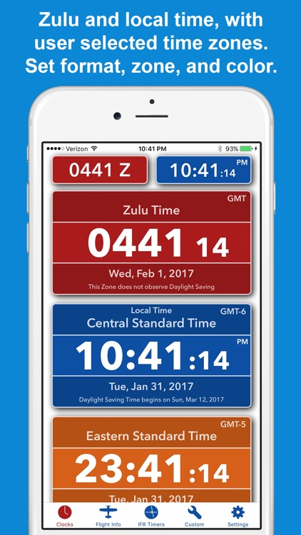 ZivTimer - Flight Timer with Zulu and World Time screenshot-0
