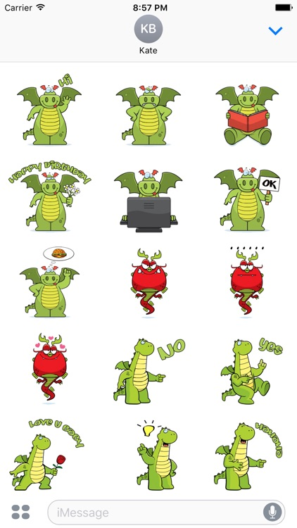 Dramoji - cute dragon stickers pack