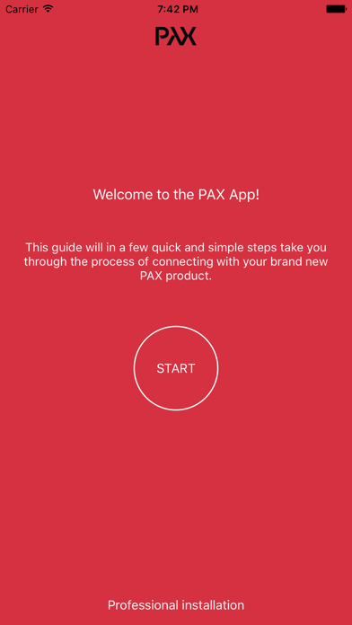 iPad Image of Pax App