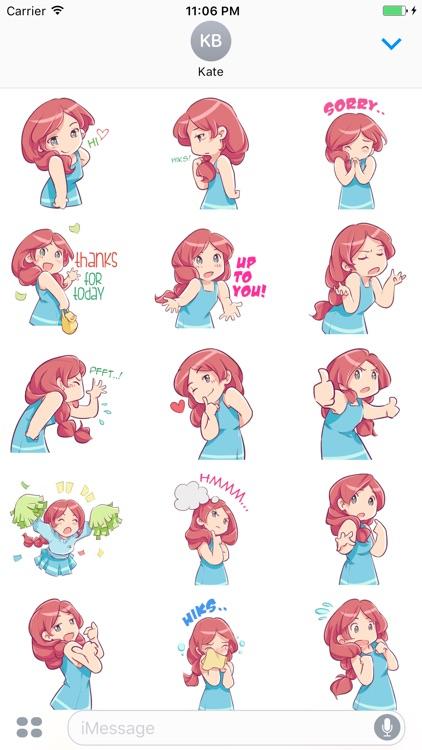 Eliza The Adorable Girl English Stickers