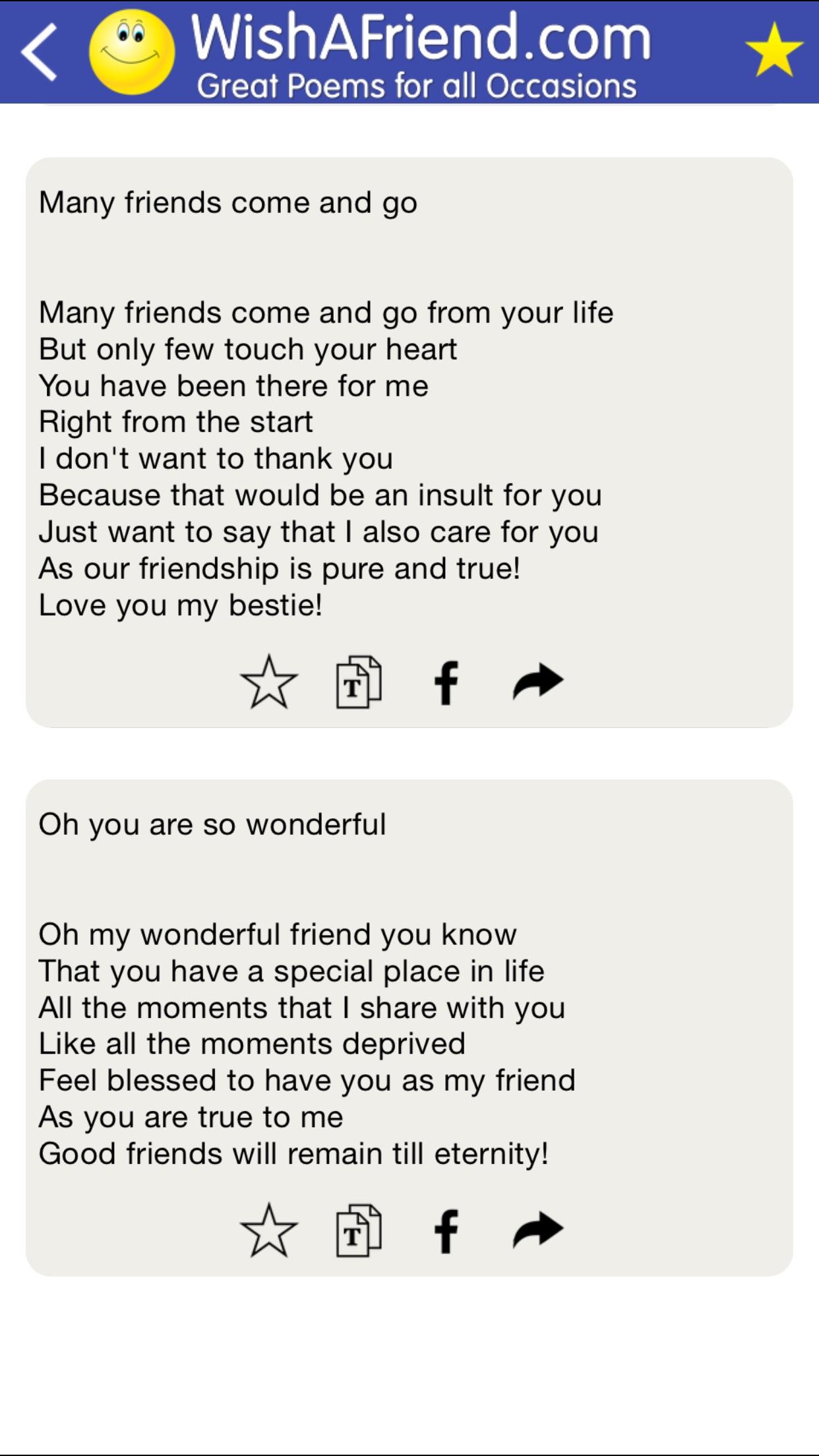 beautiful poems love family friends birthday screenshot