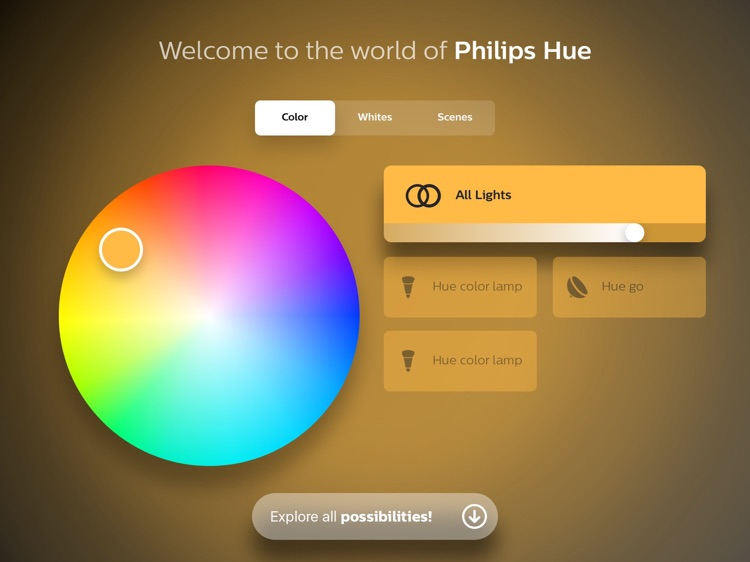 Philips Hue instore app screenshot-0