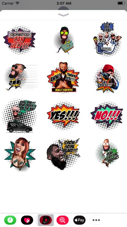 Djokoshop Comic Sticker Pack