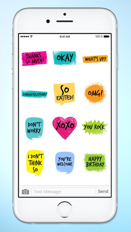 Colorful Words Text Sticker Pack screenshot-3