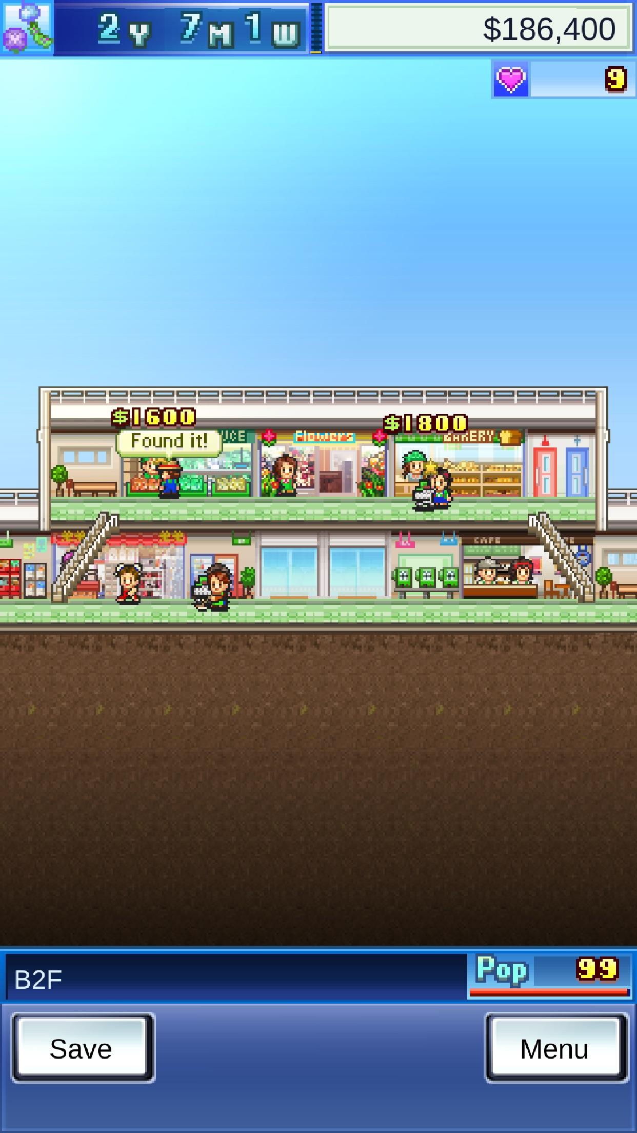 Screenshot do app Mega Mall Story