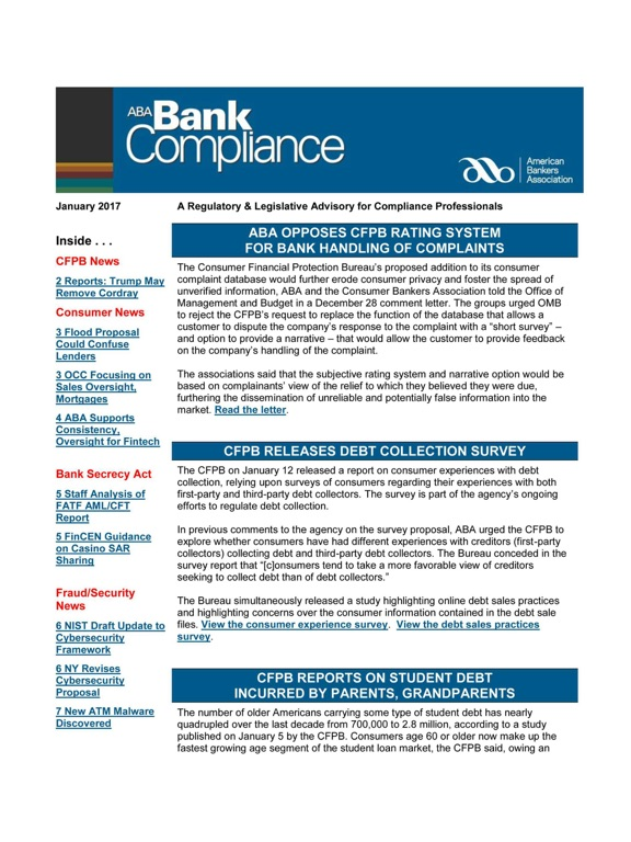ABA Bank Compliance newsletter-ipad-0