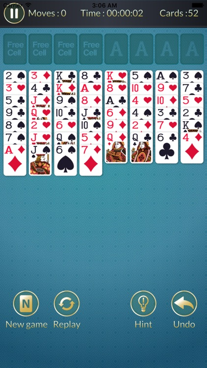 Freecell - Solitaire card game puzzle screenshot-3