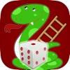 派手なヘビとはしごのゲーム古典的なサイコロ2人