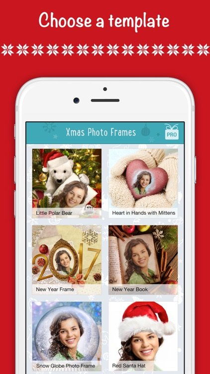 Christmas wallpaper, fun photo frames & Santa hat