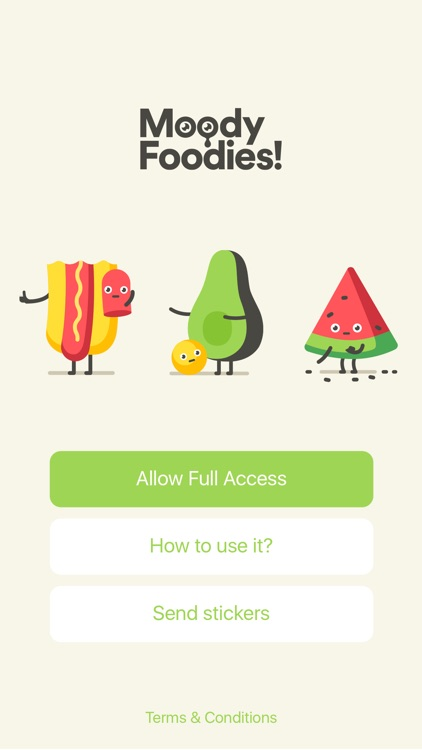 Moody Foodies Moji screenshot-4