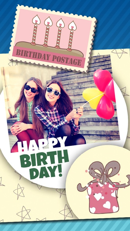 Birthday greeting cards & stickers – Photo editor screenshot-4
