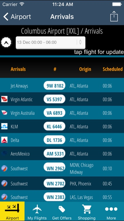 Columbus Airport (CMH) + Flight Tracker