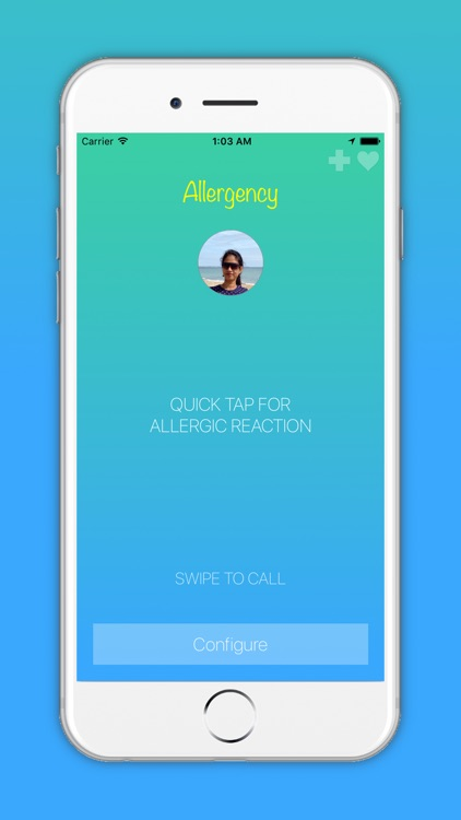Allergency: Food Allergy Alert, Anaphylaxis & SMS screenshot-0
