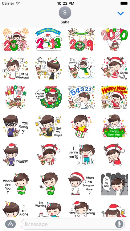 Happy New Year Stickers Vol4
