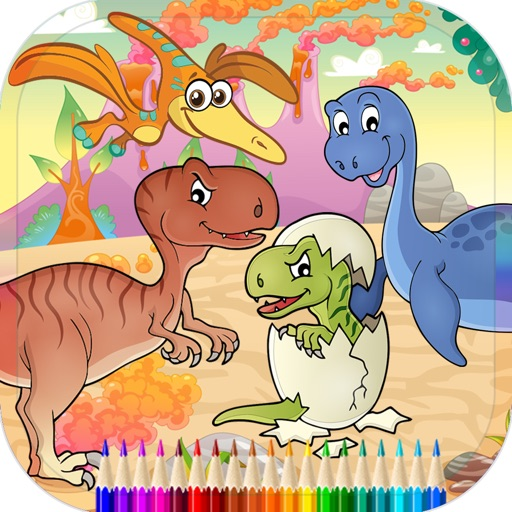 Dinosaur Coloring Page For Kids Education Game