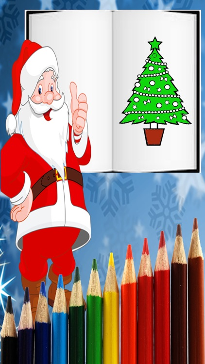 Christmas Santa Coloring Pages -Kids Coloring Book screenshot-3