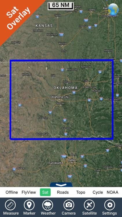 Oklahoma lakes - fishing Hd gps charts navigator screenshot-4