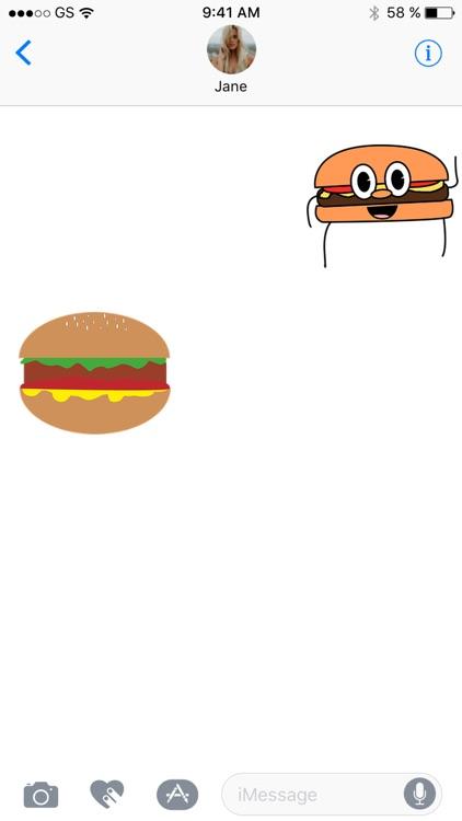 Hamburger Two Sticker Pack