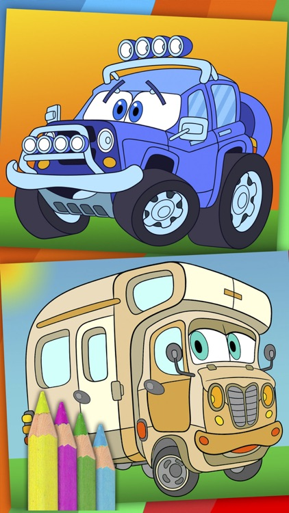 Cars coloring pages for kids – Pro screenshot-3