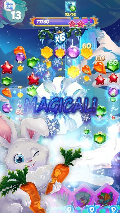 Bunny Frozen Jewels Match 3 screenshot-4