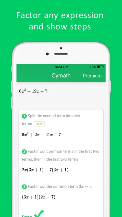 Cymath - Math Problem Solver screenshot-3