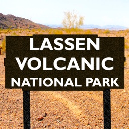 Lassen Volcanic National Park Map, California