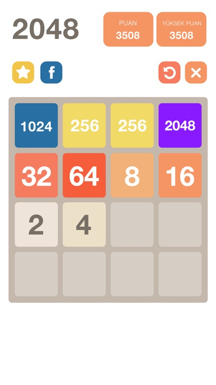 2048 Unlimited Undo - Original Number Puzzle Game
