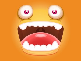 Let your friends know what you're thinking and how you feel a way they will never forget with Monster Face Emoji Sticker Pack 2 for iMessage