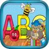 子供のためのABCシェイプパズルゲームを着色動物
