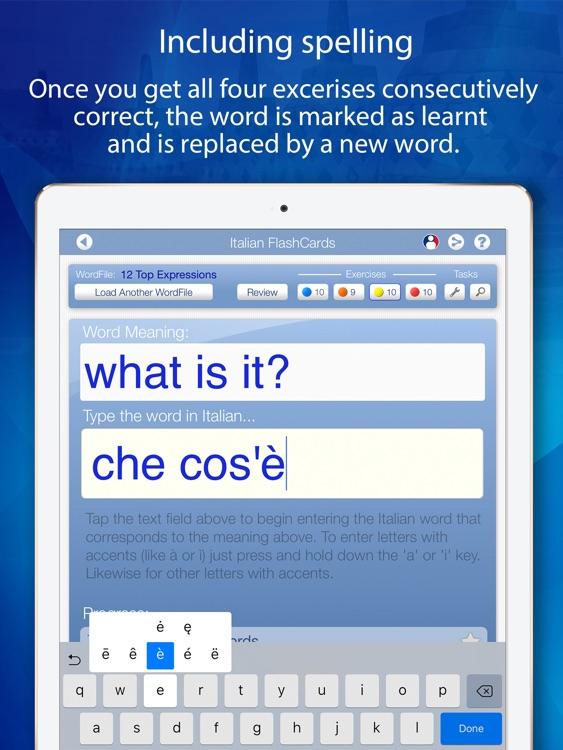 Learn Italian FlashCards for iPad screenshot-4