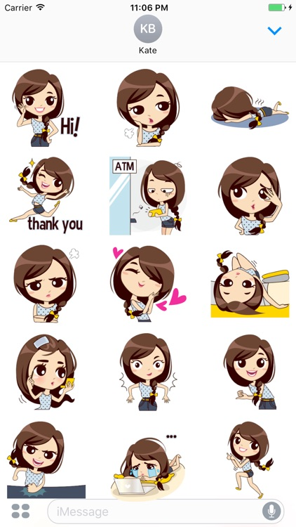 Aura The Cute Student Stickers