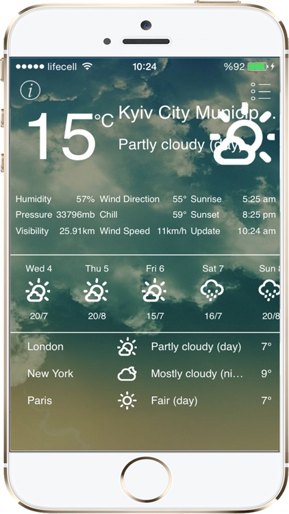 Weather App with 10 Days Forecast