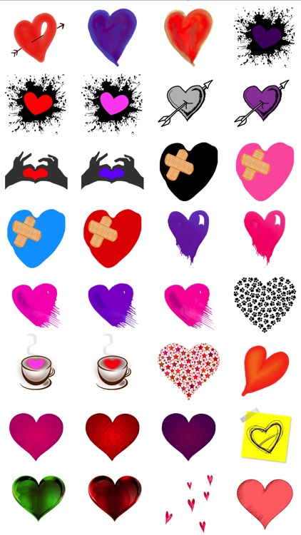 Artful Hearts: Artsy Heart Stickers screenshot-3