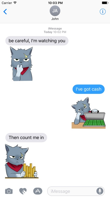 BOSS CAt Animated Stickers screenshot-3