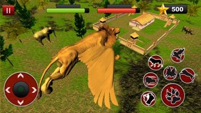 Flying Lion Simulator: Lucha de animales salvajesCaptura de pantalla de5