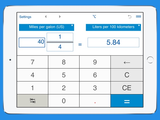 Screenshot 1 For Fuel Consumption Converter Mpg To L 100km And Km