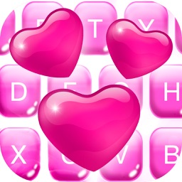 Valentine Keyboard Theme - Love Background & Emoji